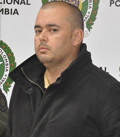 "Jesús David Trujillo Echeverry, alias ""Alitas"". Foto cortesía de Dijín."