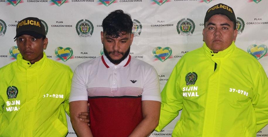 """Alias """"Abelito"""", cabecilla de la banda """"la Sierra"""", fue detenido en el barrio Cristo Rey de Medellín. Foto cortesía de la Policía."""