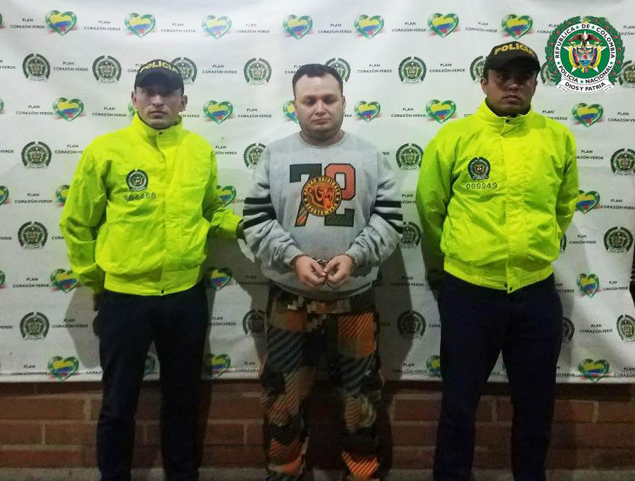 """William Muñoz, alias """"el Chivo"""", presunto cabecilla de """"la Terraza"""". Foto cortesía de la Policía Metropolitana."""
