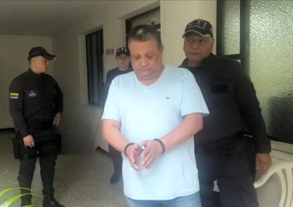 Juan Santiago Gallón Henao, capturado por el CTI en Cúcuta. Foto cortesía de la Fiscalía.