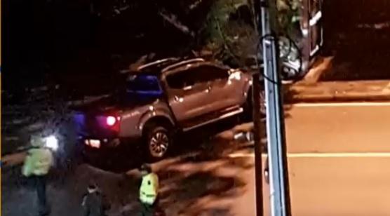 """Esta era la camioneta que conducía """"Botija"""" al momento del ataque. Cortesía."""