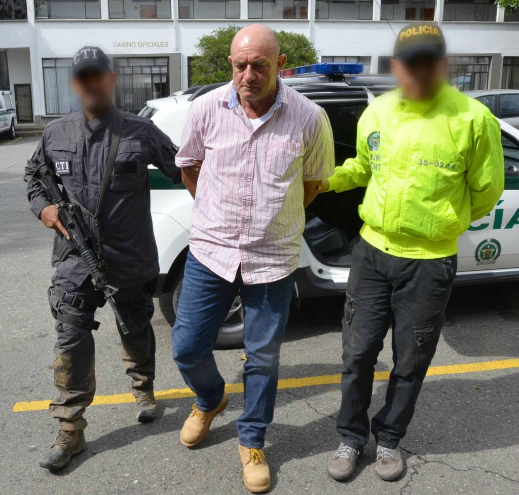 """Octavio Cartagena Benítez (""""Gabriel Paraco"""") fue capturado en 2015 en una finca de Betulia, Antioquia. Foto cortesía de la Policía."""