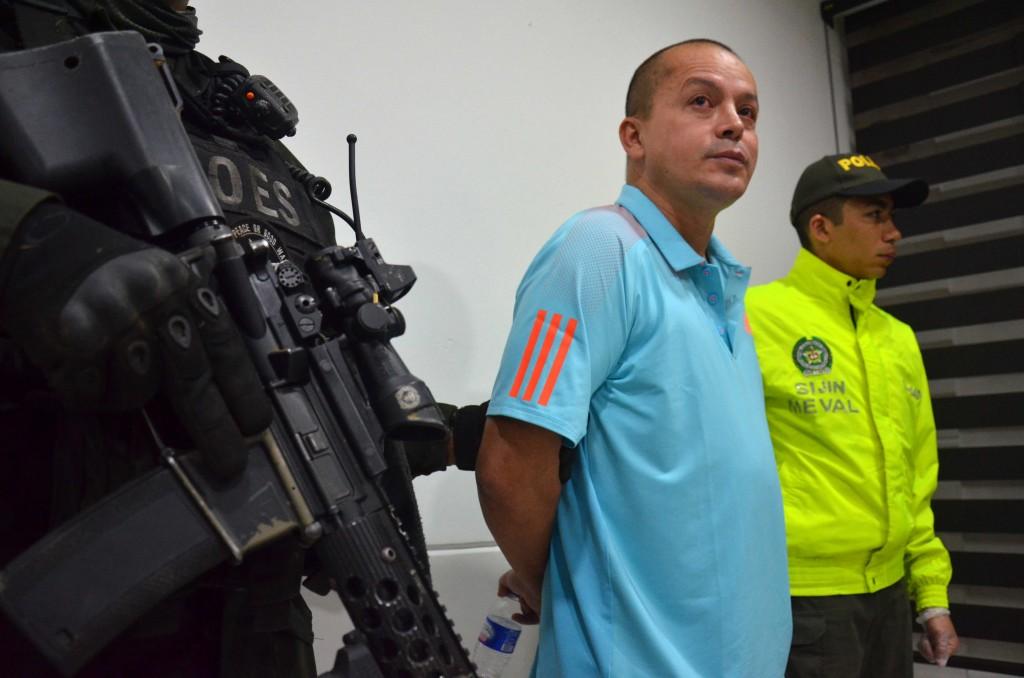 """Elkin Fernando Triana Bustos, alias """"el Patrón"""", cofundador de la banda """"los Triana"""". Foto cortesía de la Policía Metropolitana."""