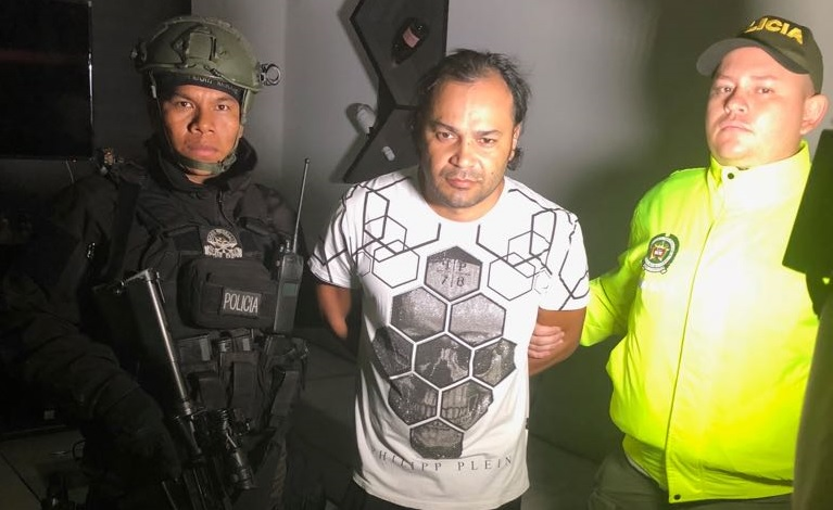 """Giovanni Cataño, alias """"Cataño"""", cabecilla de """"la Oficina del Doce"""" y de la """"Odín Picacho"""". Foto cortesía de la Policía."""