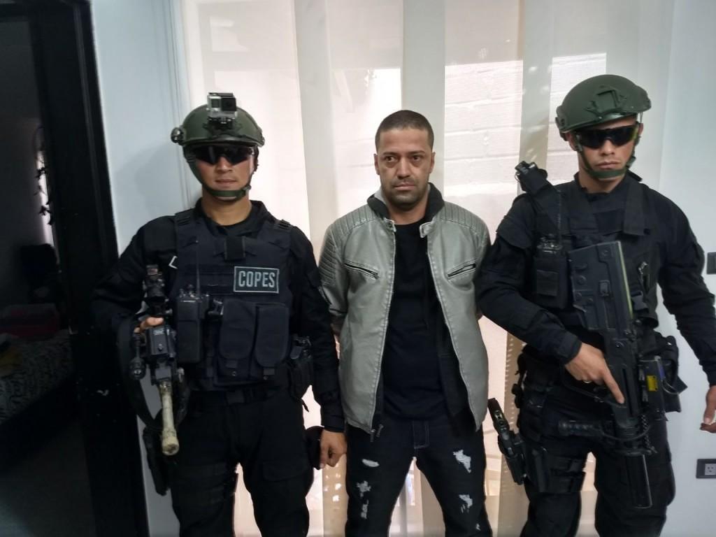 """Alias """"Juancito"""", del combo de """"Betania"""", se entregó a las autoridades. Foto cortesía de la Policía."""