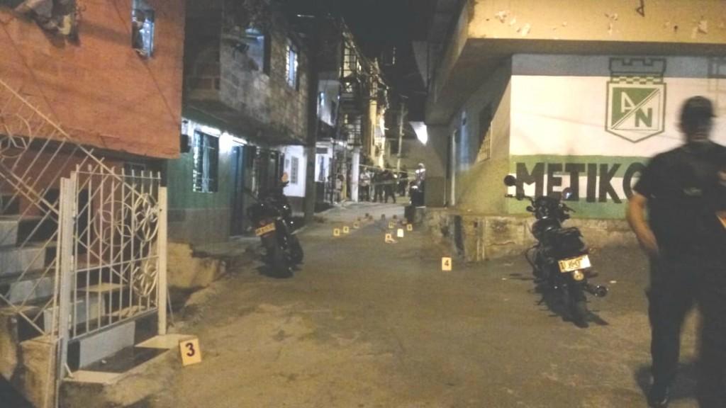 En esta cuadra del barrio Córdoba, en límites de los sectores El Hueco de La Candelaria y Nuevo México, se presentó el ataque armado. Foto de cortesía.