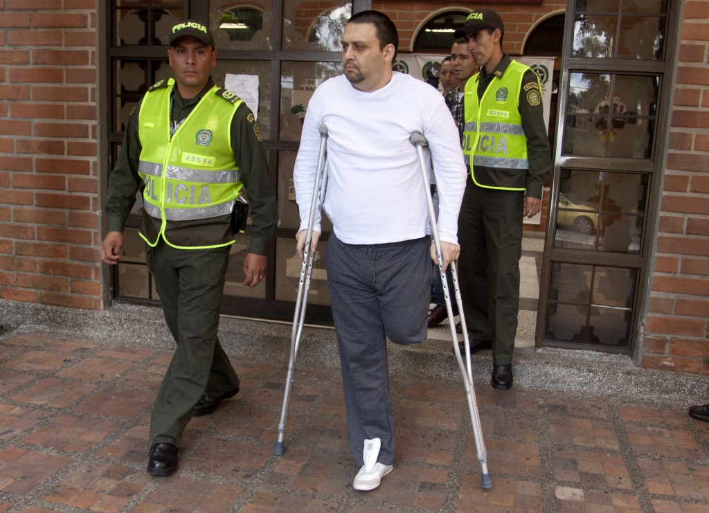 """Así lucía, posterior a su captura en 2012, Félix Alberto Isaza Sánchez, alias """"Beto"""". Foto de archivo."""
