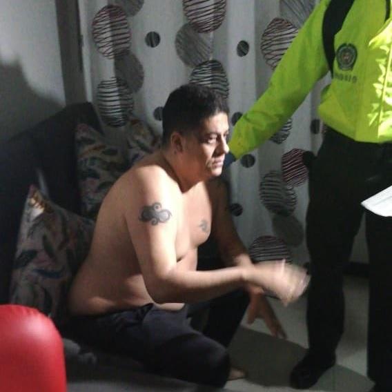 """El paramilitar desmovilizado Juan David Mosquera (""""Lunar"""") fue detenido en un operativo de la Dijín y el Gaula. Foto de cortesía."""