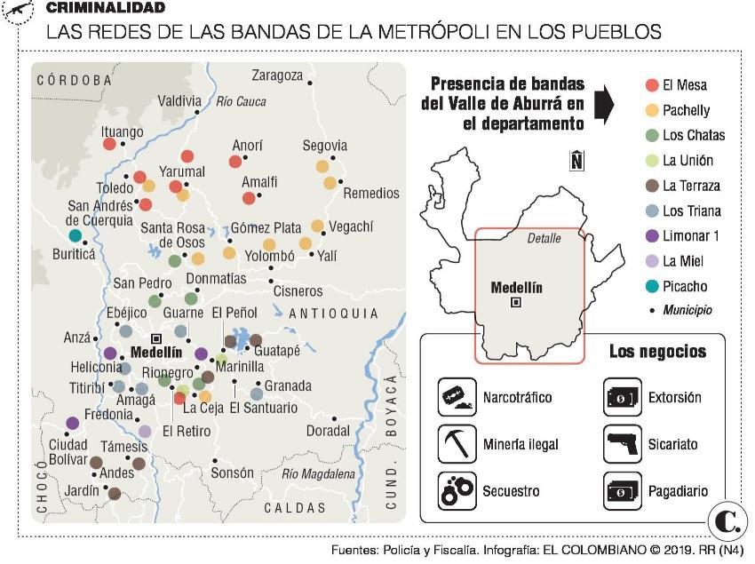 mapa bandas pueblos