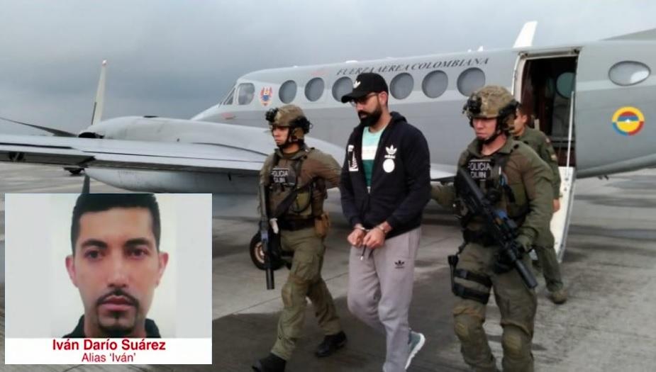 """Este es """"Iván el Barbado"""", al momento de su traslado a Bogotá, desde el departamento de Santander. Fotos cortesía de la Fuerza Aérea y la Policía."""
