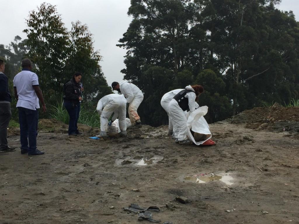 Este es el lugar en el que hallaron los cuatro cadáveres, en la frontera de Robledo y San Cristóbal. Foto de cortesía.