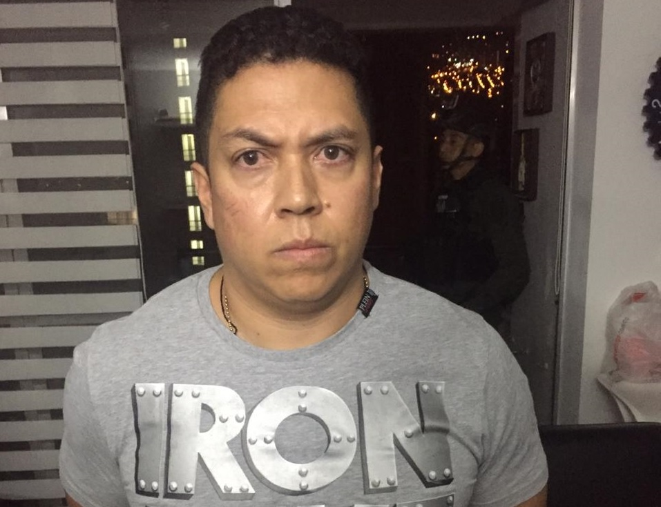 """Alexánder González, alias """"Andrés el Cerdo"""", capturado en el barrio Los Colores de Medellín. Foto cortesía de la Policía."""