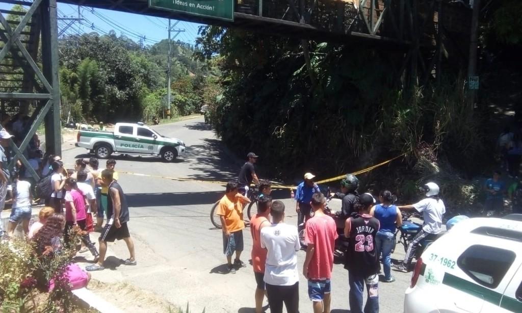 En este lugar, en límites de Sabaneta con La Estrella, encontraron dos de los cadáveres el 3 de septiembre. FOTO: cortesía Guardianes Antioquia.