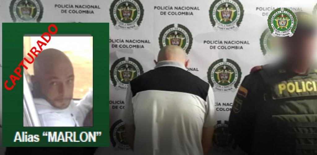 """Alias """"Marlon"""", presunto jefe de """"las Violetas"""", fue detenido en el municipio de San Jerónimo. FOTO: Cortesía Policía Metropolitana."""