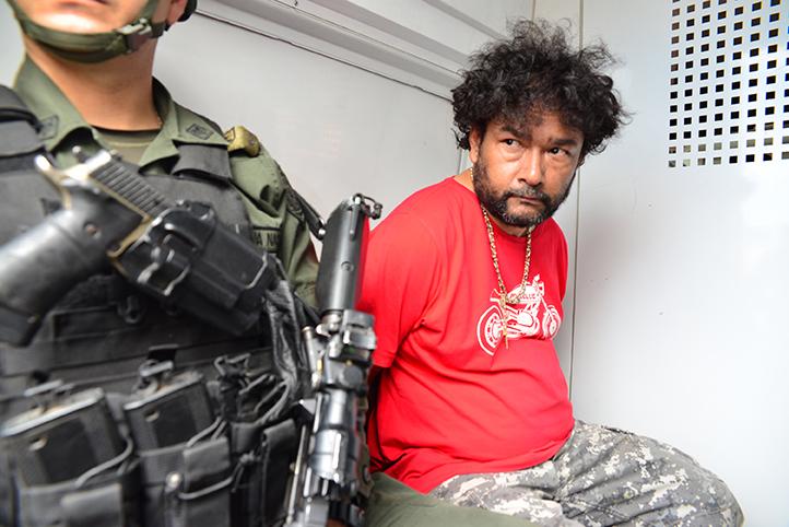 """Esta era la apariencia de """"el Montañero"""" al momento de su captura en Aranzazu, Caldas. Foto cortesía de la Policía."""