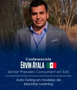 Así era reseñado Erwin Ayala en una de sus conferencias. Cortesía.