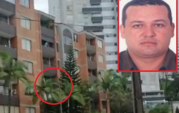 """En el recuadro aparece alias """"Chepe"""" y en el círculo se aprecia el balcón por el cual cayó de manera accidental. Fotos de cortesía."""