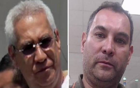 """Luis Arnobio Del Río Jiménez, alias """"el Tío"""" (izquierda), y su hijo Ánderson Del Río Pasos, apodado """"el Grande"""". Fotos cortesía de la Policía."""