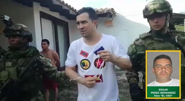 """Alejandro Mazo Pulgarín, alias """"Titi"""", fue detenido en enero de 2019 en San Carlos, Antioquia. Y Édgar Pérez (""""el Oso"""") fue capturado el pasado diciembre en Bello. Fotos cortesía de Policía y CTI."""