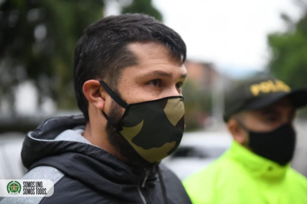"""La captura más reciente de Ronald Echavarría (""""Ronald"""" o """"el Zarco"""") fue en Pereira. Cortesía de la Policía."""