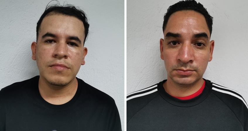 """Jhonatan Franco (""""La Rea"""") y a la derecha  Sebastián Agudelo (""""Huevo""""). Fotos de cortesía."""
