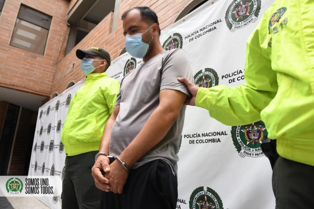 """Alias """"el Mudo"""" fue capturado en San Jerónimo, Antioquia. La recompensa en su contra era de $50 millones. Foto cortesía de la Policía."""
