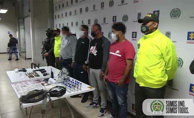 """Estos son los capturados en el operativo contra """"los Chatas"""". Foto cortesía de la Policía."""