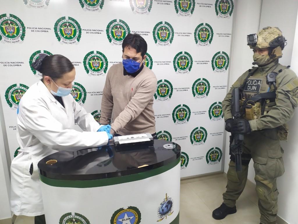 """Las capturas de Francisco Mazo (""""Pocho"""") en Bogotá (foto), y de Albert Henao (""""Alber"""") en Medellín, fueron cruciales para que esa banda ilegal pidiera una tregua a los enemigos. Cortesía de la Policía."""