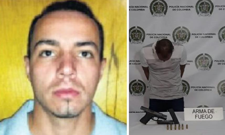 """Él es Diomer Alexis Zapata Castrillón, alias """"Válvula"""", uno de los presuntos cabecillas de la banda """"la Silla"""". Fotos cortesía de la Policía."""