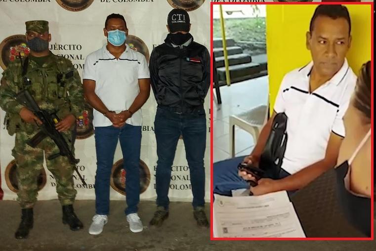 """Jaime Cano, alias """"Jota"""", capturado en el barrio Pedregal de Medellín. Foto cortesía de la Policía."""