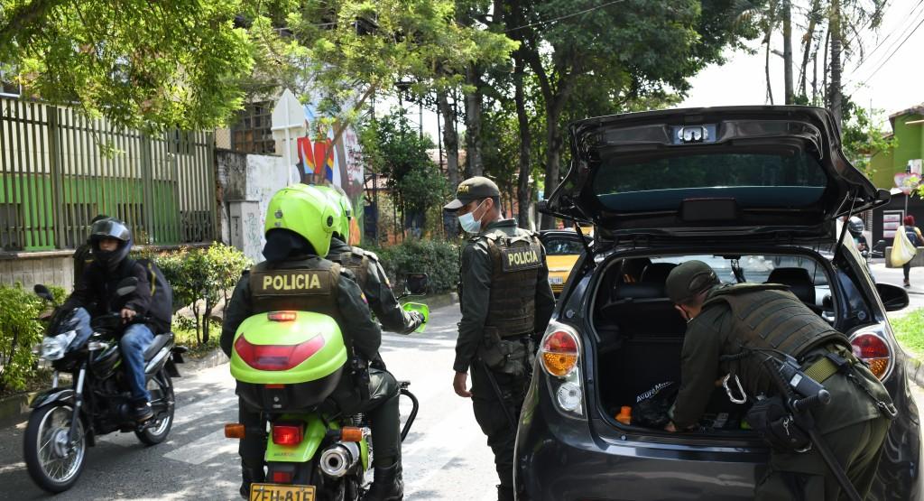 La Policía incrementó la vigilancia en la frontera de Guayabal e Itagüí, luego del asesinato de un patrullero hace tres semanas. Foto cortesía de la Policía.