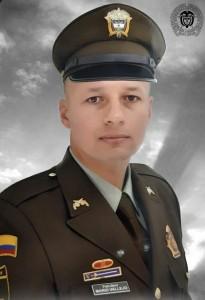 El patrullero Mario Vallejo (Q.e.p.d.). Cortesía.