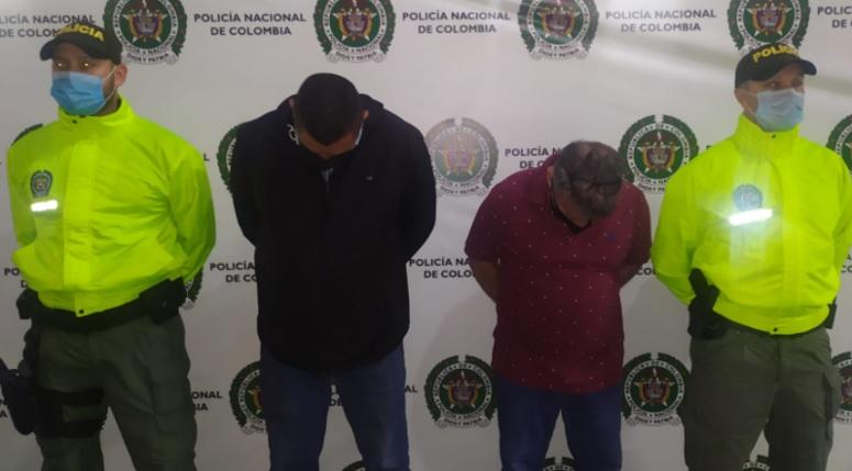 Así fueron reseñados por la Policía los dos capturados. El proceso está pendiente de la etapa de acusación. Foto cortesía de la Policía.