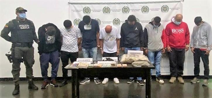 """Estos son algunos de los capturados de """"Pachelly"""", en la denominada Operación Avalancha. Foto cortesía de la Policía."""