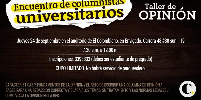 Encuentro de Columnistas Universitarios