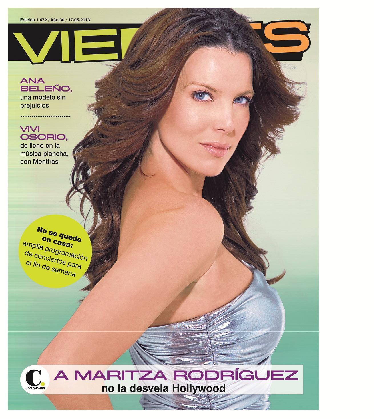 Maritza Rodríguez, en la portada de Revista Viernes   DiabloG  Maritza Rodríg...