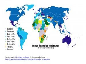 desempleo en el mundo por paises