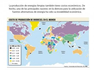 costo de produccion de biocombustibles