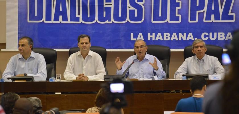 Fue el 4 de septiembre de 2012 donde se inició la Mesa de Negociación de Paz entre el gobierno de Colombia y la guerrilla de las FARC. Foto: Presidencia de Colombia