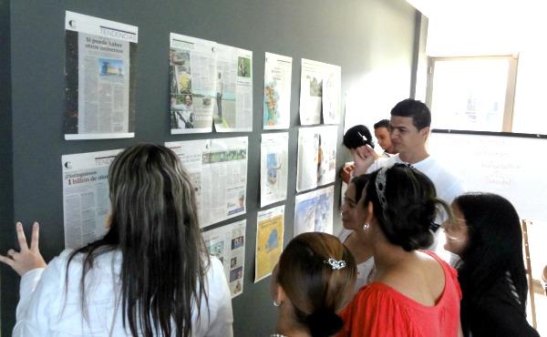 Taller Uso del periódico en clase a docentes de Codesarrollo. Año: 2014